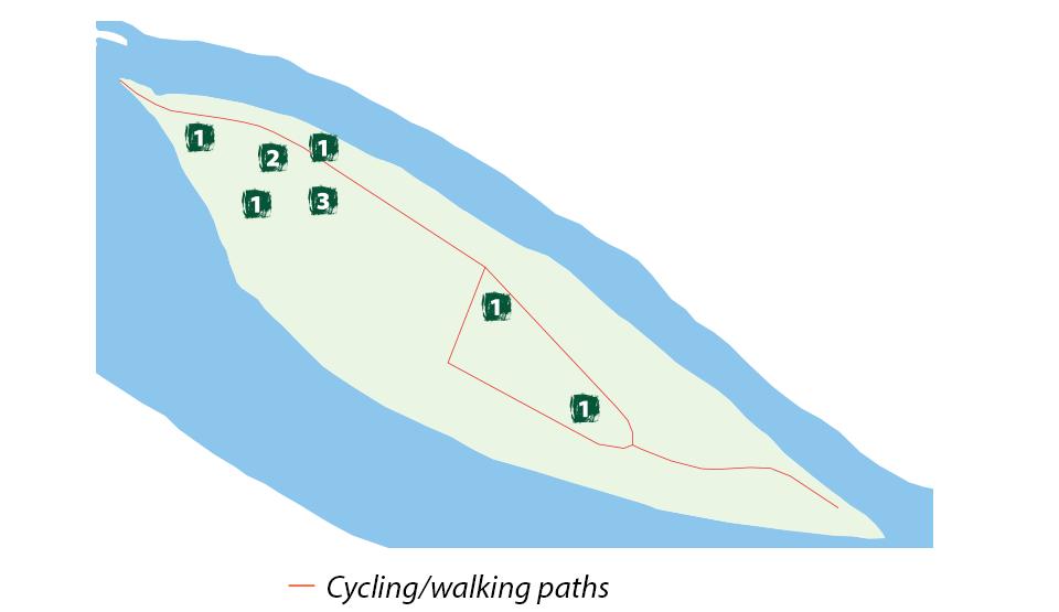 Riserva naturale Isola Boschina. Mappa