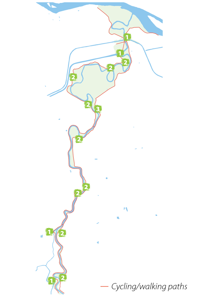 Parco Golene Foce Secchia. Mappa