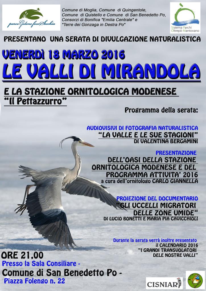 Venerdì 18 Marzo 2016 - LE VALLI DI MIRANDOLA