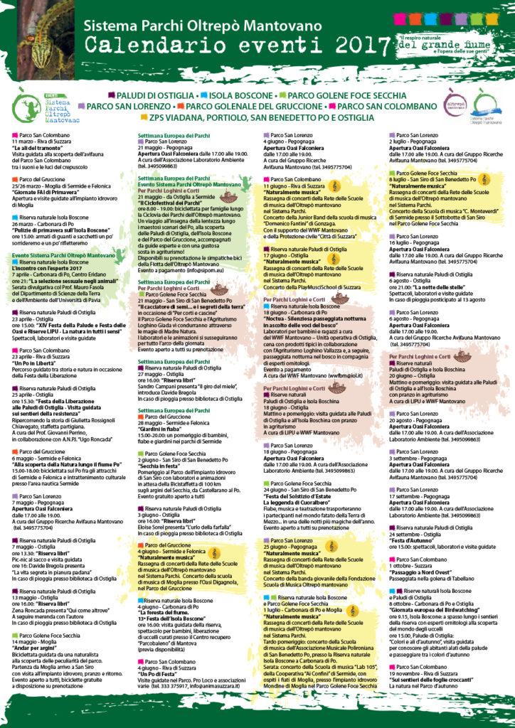 SIPOM. Calendario eventi 2017